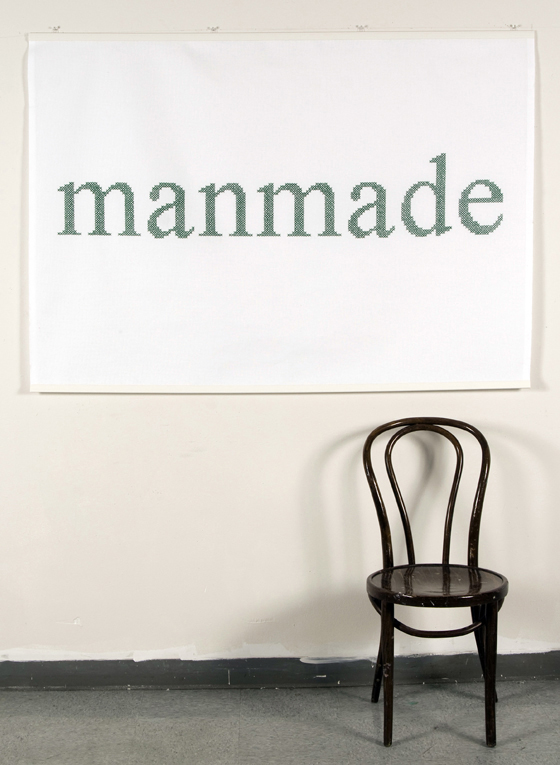 "Manmade #9 (chair for scale): cotton; 43""H X 60""W; 2010; Photo: Kiny McCarrick"