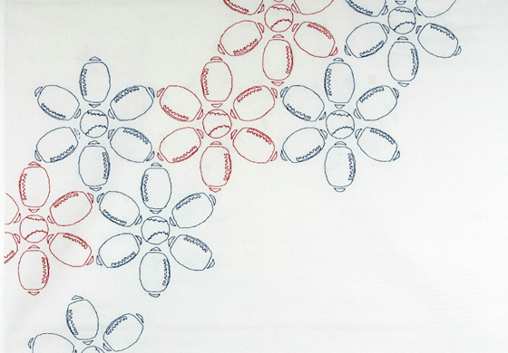 "Sporty Flowers #4: cotton; 43""H X 60""W; 2010; Photo: Kiny McCarrick"