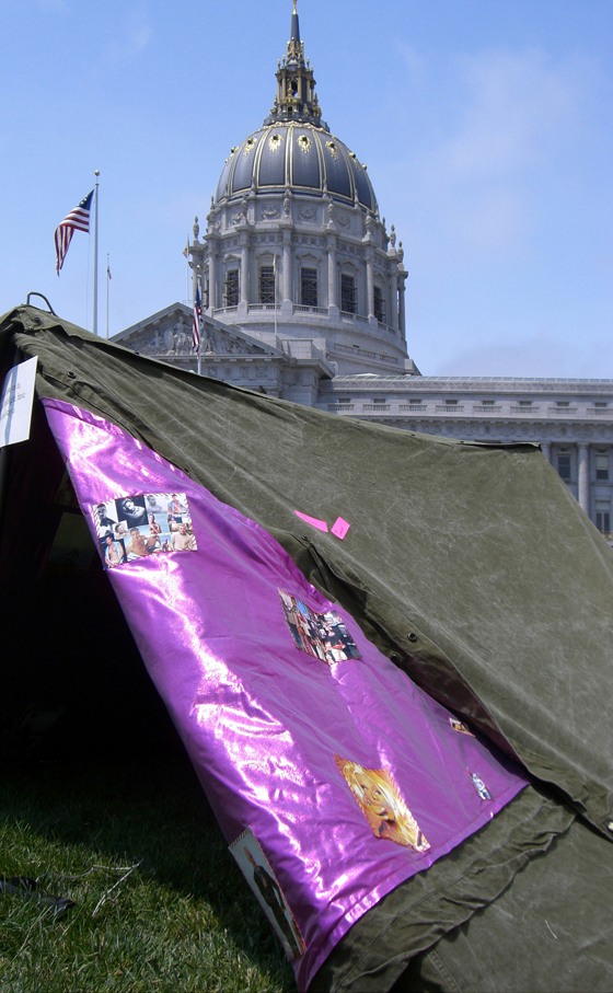 Tent #1 at City Hall, San Francisco, CA, USA, June 2008