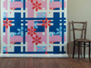 "Plaid Sporty Flowers Fabric: cotton, digital printing; variable height X 60""W; 2011; Photo: Kiny McCarrick"